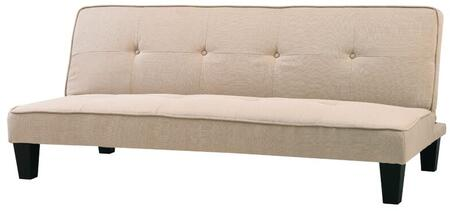 "Glory Furniture 67"" Convertible Sleeper Sofa with Tapered Legs, Button Tufted Back and Twill Fabric Upholstery in"
