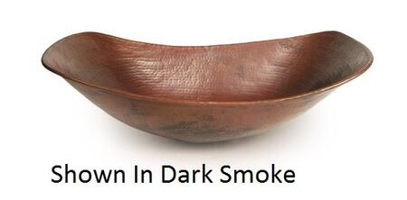 D'Vontz LV8301L15 Sleigh Copper Vessel Sink With 77% Recycled Copper, 99% Pure Copper & In
