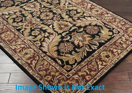 Surya A103 Ancient Treasures Ink Handmade Area Rug Made with 100% Semi-Worsted New Zealand Wool and Made in India