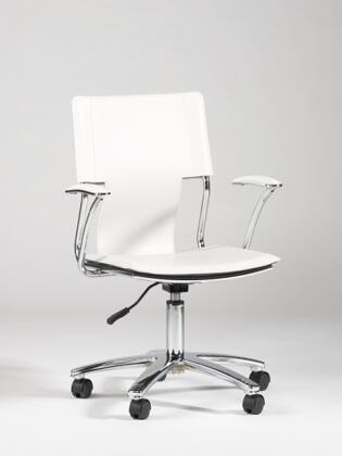 "Chintaly 0648CCHWHT 16.85"" Adjustable Contemporary Office Chair"