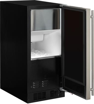 "Marvel MA15CPS1xS 15"" Ice Maker with up to 39.83 lbs Daily Production, 35 lb Storage, Cleaning Reminder, LED Interior Lighting, ADA Compliant and Factory Installed Pump, in Stainless Steel with"