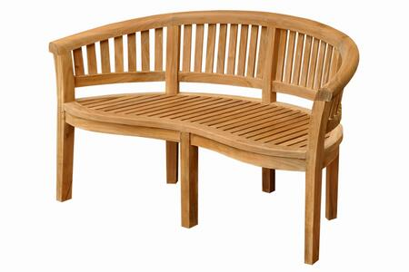 Anderson BH005CT Curve Series Accent Wood Frame Armed Patio Benches