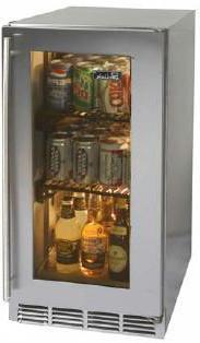 Perlick HP15RS4RDNU  Compact Refrigerator with 3 cu. ft. Capacity