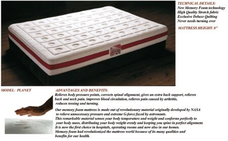 ESF Planet Collection I74-X Memory Foam Mattress
