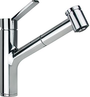 Franke FFPS31 Ambient Pull-Out Faucet with Full and Needle Spray, and Top Lever in