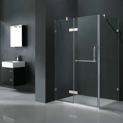 """Vigo VG6011XXCL40 32"""" x 40"""" Frameless 3/8"""" Shower Enclosure:"""