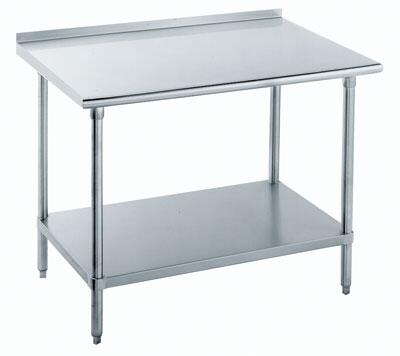 Work Table with 1.50 inch Backplash