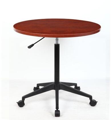 "Boss N30 32"" Mobile Round Table with Height Adjustment, Nylon Base and Wheel Casters"