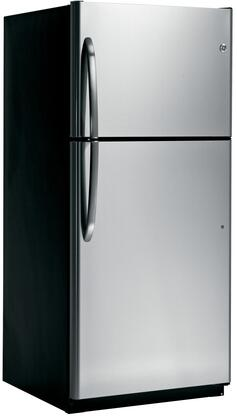 GE GTZ18ICESS Freestanding Top Freezer Refrigerator with 18. cu. ft. Total Capacity