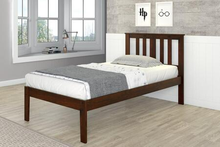 Donco 625CP Venice Bed With Full-Slats-Mattress Ready: Cappuccino