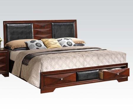 Acme Furniture 21907EK Windsor Series  King Size Panel Bed
