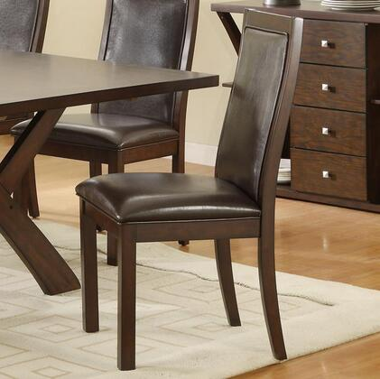 Coaster 102502 Emerson Series Transitional Faux Leather Wood Frame Dining Room Chair