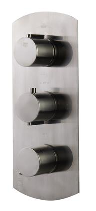Alfi AB4101-XX Concealed 4-Way Thermostatic Valve Shower Mixer with Round Knobs, Brass, UPC Certification, User-Friendly Installation and Diverter knob in