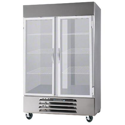 "Beverage-Air HBR49-1 52"" Horizon Series Two Section [Solid Door] Reach-In Refrigerator, 49 cu.ft. Capacity, Stainless Steel Exterior and Interior, with Bottom Mounted Compressor"