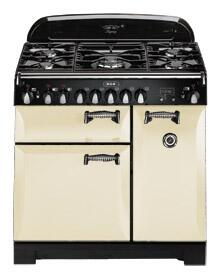 AGA ALEG44ECRM Legacy Series Electric Freestanding Range with Smoothtop Cooktop, 2.2 cu. ft. Primary Oven Capacity, Storage in Cream