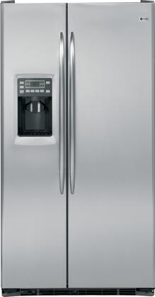 GE PSCS5RGDSS Profile Series Side by Side Refrigerator with 24.6 cu. ft. Capacity in Stainless Steel
