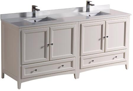"Fresca FCB203636XXCWHU Oxford 72"" Traditional Double Sink Vanity in"