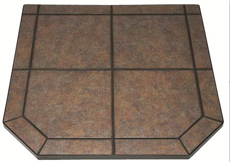 US Stove HS40DLTTT1 Tile Hearth Pad, Heavy Duty Steel Frame, Non Combustable Substrate, and in Tartara