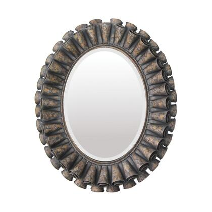 Sterling 550027M Ruffled Series Oval Portrait Wall Mirror