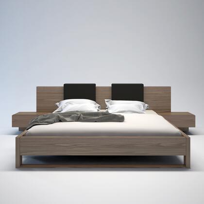 Modloft MD316CKWAL Monroe Series  California King Size Platform Bed