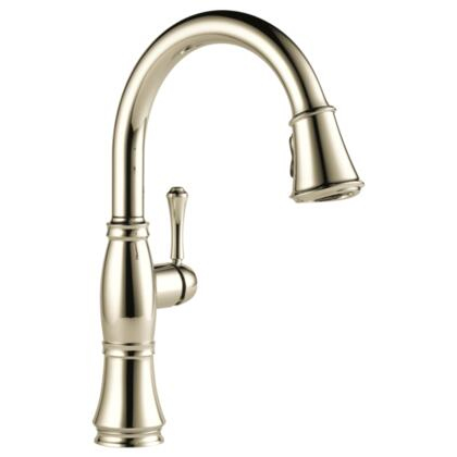 Cassidy  9197-PN-DST Delta Cassidy: Single Handle Pull-Down Kitchen Faucet in Polished Nickel