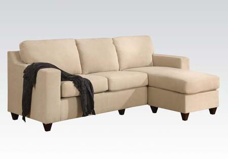 Acme Furniture 05913A Vogue Series Stationary Microfiber Sofa