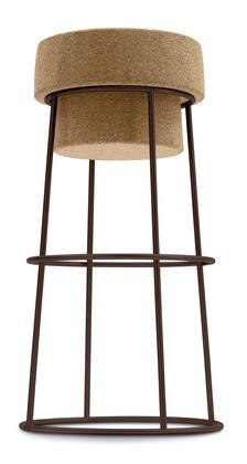 "Domitalia BOUCHRSA0F Bouchon-Sga 30"" Bar Stool with Cone Shaped Lacquered Steel Frame and Cork Seat in"