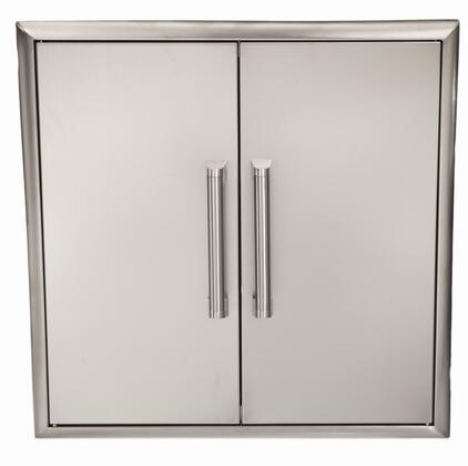 Coyote CDA24 Double Access Door with Premium Stainless Steel Construction, Professional-Style Handle, Magnetic Latches for Easy Closing, Beveled Trim, and Rigid Construction in Stainless Steel