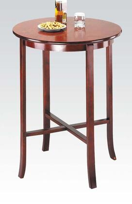 "Acme Furniture Chelsea Collection 30"" Bar Table with Round Top, X-Shape Stretchers and Birch Wood Construction"