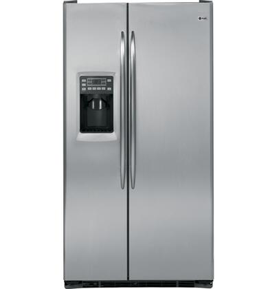 GE PSCS3RGXSS Profile Series Counter Depth Side by Side Refrigerator with 23.3 cu. ft. Capacity in Stainless Steel