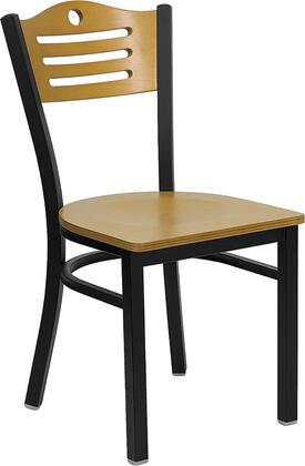 Flash Furniture XUDG6G7BSLATNATWGG Hercules Series Contemporary Not Upholstered Metal Frame Dining Room Chair
