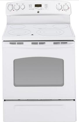 GE JB705TTWW  Electric Freestanding Range with Smoothtop Cooktop, 5.3 cu. ft. Primary Oven Capacity, Warming in White