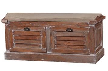 Bramble 25518 Cottage Series Kitchen Armless Wood Fabric Bench
