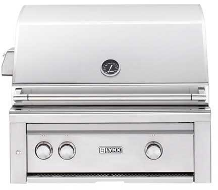 "Lynx L30PSR2LP Built-In 30"" Liquid Propane Grill, in Stainless Steel"