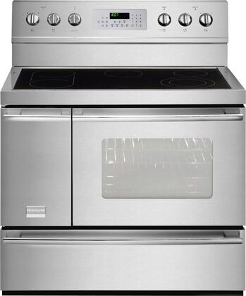 "Frigidaire Professional FPEF4085KF 40"" Professional Series Electric Freestanding Range with Smoothtop Cooktop, 3.7 cu. ft. Primary Oven Capacity, Storage in Stainless Steel"
