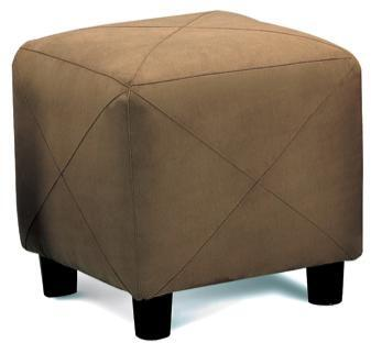 Coaster 5009 Microfiber Cube Foot Stool by Coaster Co.