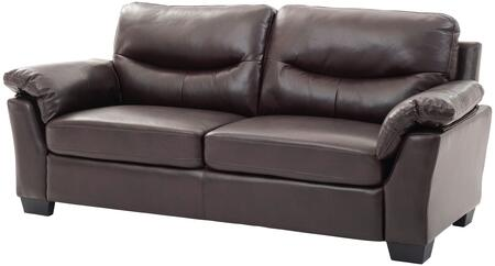 """Glory Furniture 79"""" Sofa with Removable Back, Pocket Coil Seat, Foam Encased Pocketed Coils, Non Removable Cushions and Soft Faux Leather Upholstery in"""