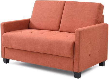 Glory Furniture G772L Fabric Stationary Loveseat