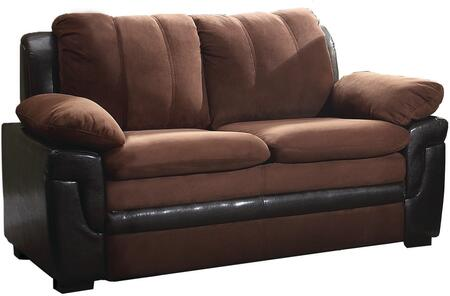 "Glory Furniture 60"" Loveseat with Removable Backs, Wood Frame, Microfiber and Faux Leather Upholstery"