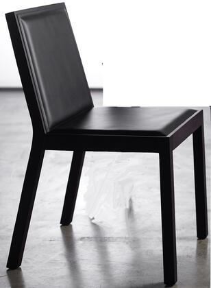 Modloft CDS04200T6C6 Queen Series Modern Leather Wood Frame Dining Room Chair