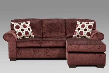 Chelsea Home Furniture 195304PE Worcester Series Chair Sleeper Polyester Sofa