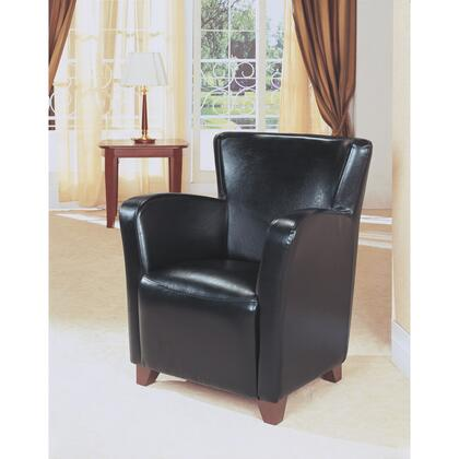 Monarch I8067 Armchair Faux Leather Wood Frame Accent Chair