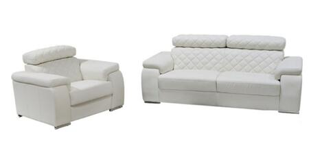 Diamond Sofa COCOSCW Contemporary Leather Living Room Set