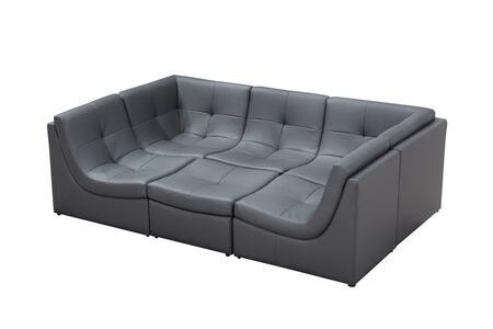 VIG Furniture VGEV207GRY Divani Casa 207 Series Modular Bonded ...