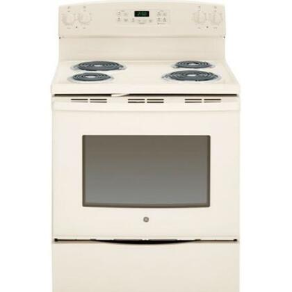 "GE JB250 30"" 5.3 Cu. Ft. Capacity Freestanding Electric Range With 4 Coil Burners, Self-Cleaning Oven. Storage Drawer, Chrome Drip Bowls, Dual-Element Bake, Coil Heating Elements & In"