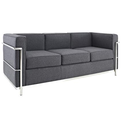 Modway EEI698DGR Charles Series Stationary Fabric Sofa