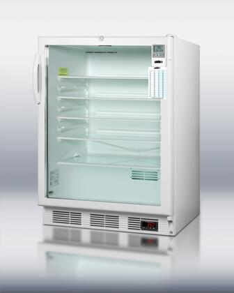 Summit SCR600LBIMEDDX MedSeries Medically Approved & ADA Compliant Compact Refrigerator with 5.5 cu. ft. Capacity, Interior Light, Adjustable Shelves and Digital Thermostat, in White