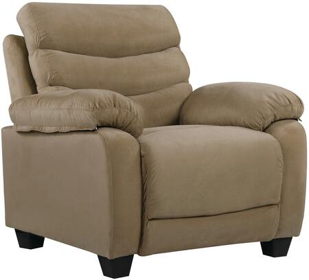 Glory Furniture G555C Suede Armchair in Mocha
