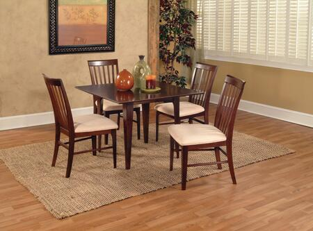 "Atlantic Furniture MONTREAL5454BTDT Montreal Collection 54x54 Butterfly Top Dining Table (Includes 18"" Leaf):"