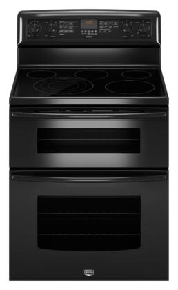 Maytag MET8885XB Gemini Series Electric Freestanding Range with Smoothtop Cooktop, 4.2 cu. ft. Primary Oven Capacity, Oven in Black